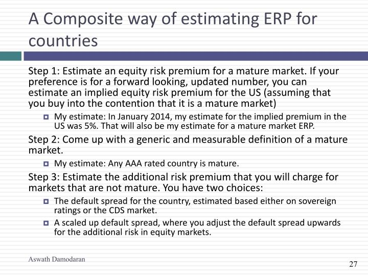 A Composite way of estimating ERP for countries
