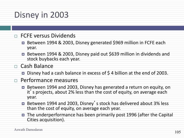 Disney in 2003