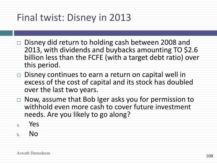 Final twist: Disney in 2013
