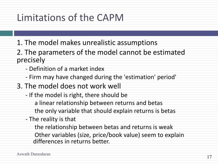 Limitations of the CAPM