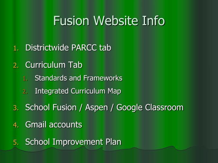 Fusion Website Info