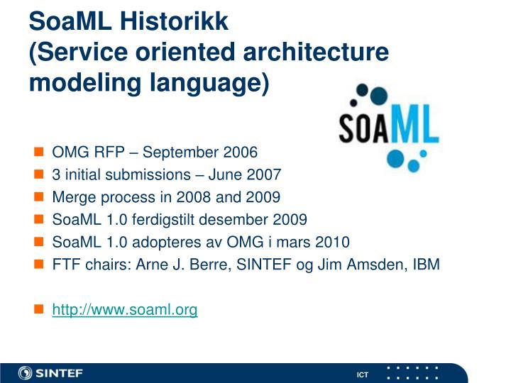 SoaML Historikk