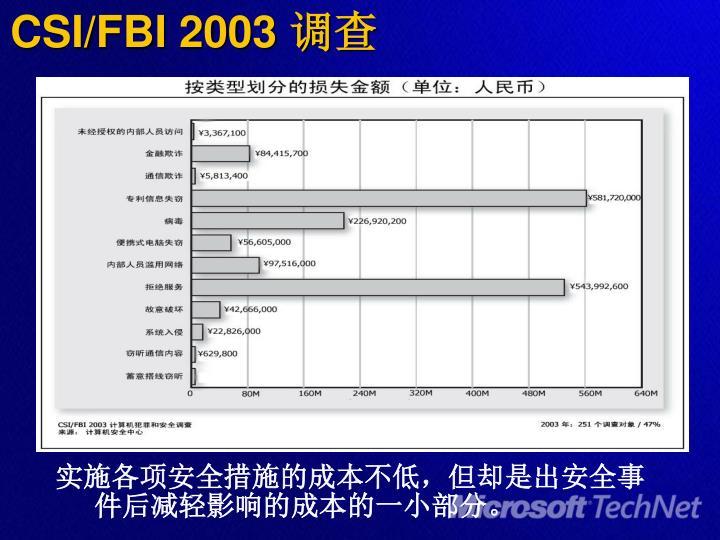 CSI/FBI 2003