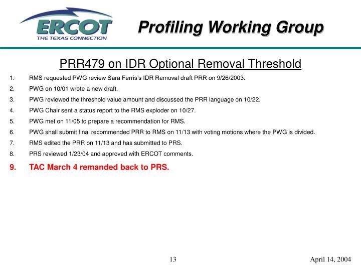PRR479 on