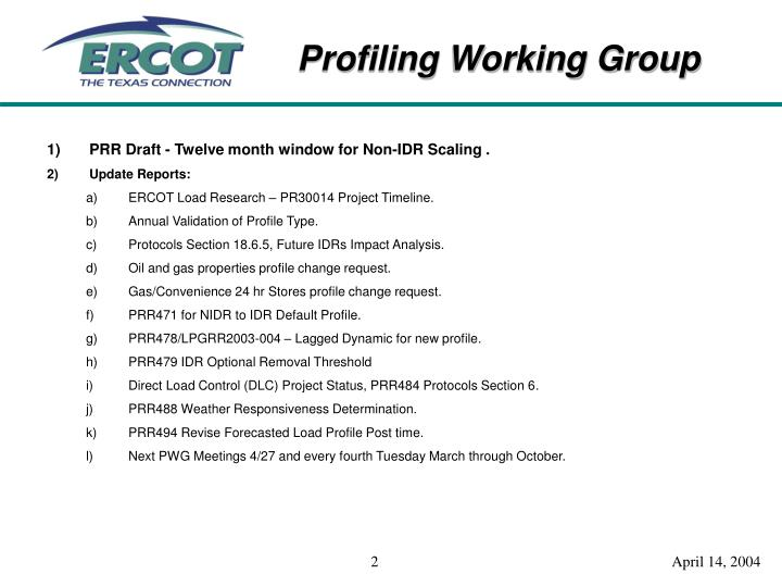 PRR Draft - Twelve month window for Non-IDR Scaling