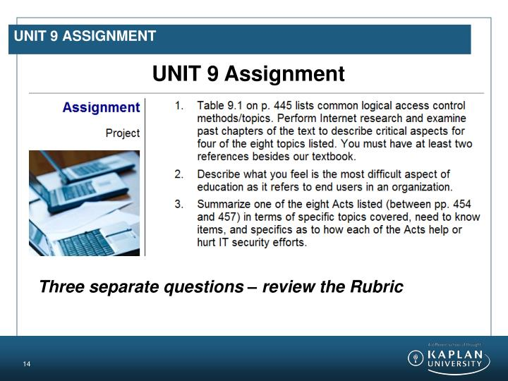 UNIT 9 Assignment