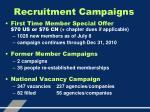 recruitment campaigns