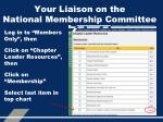 your liaison on the national membership committee