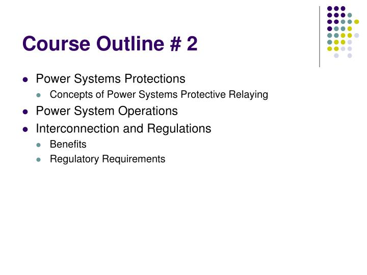 Course Outline # 2