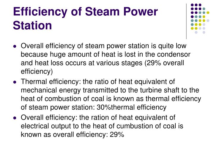 Efficiency of Steam Power Station