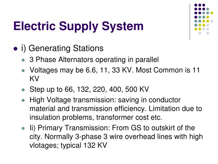 Electric Supply System