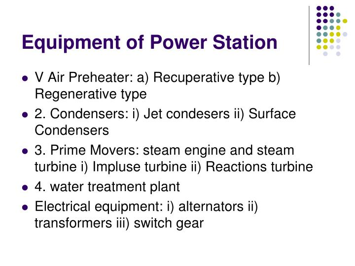 Equipment of Power Station
