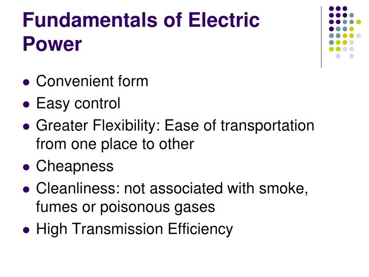 Fundamentals of Electric Power