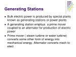 generating stations