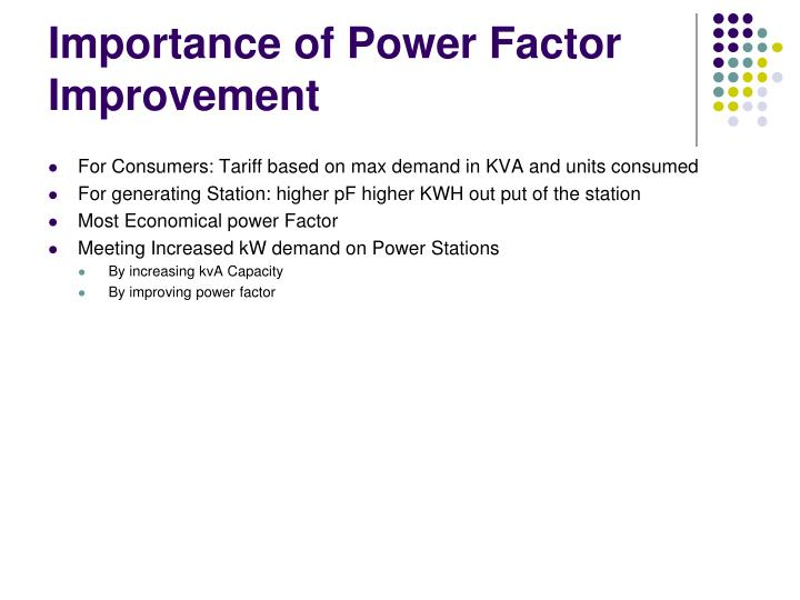 Importance of Power Factor Improvement