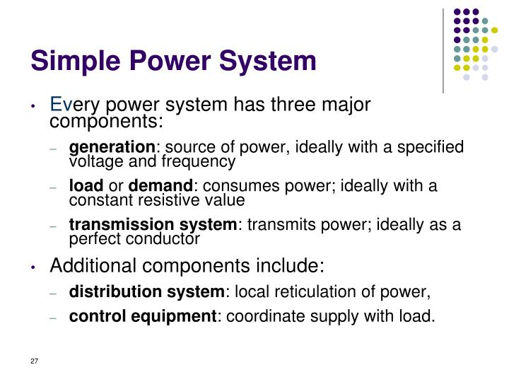Simple Power System