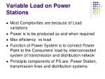 variable load on power stations