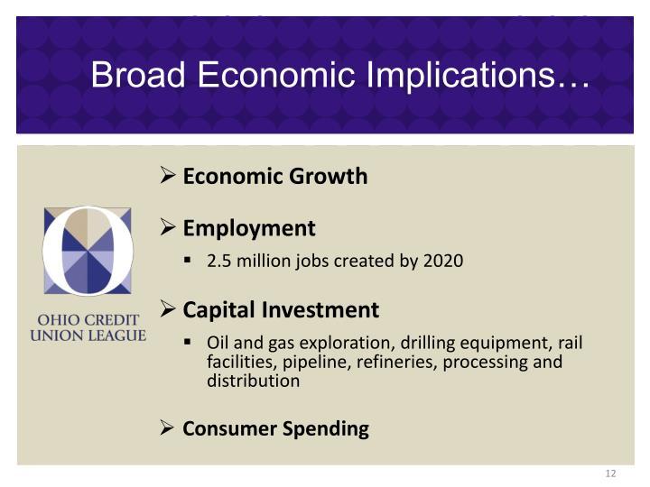 Broad Economic Implications…