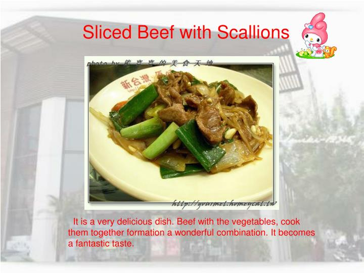 Sliced Beef with Scallions