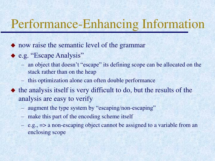 Performance-Enhancing Information