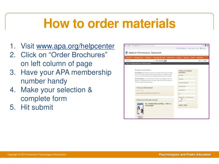 How to order materials