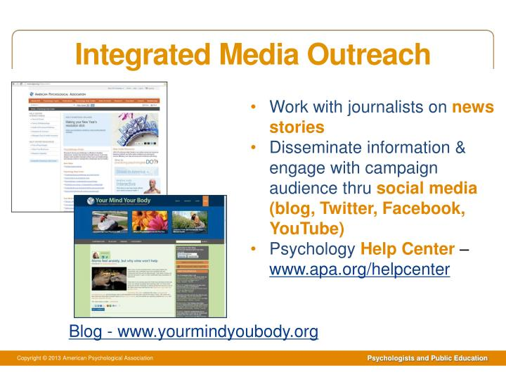 Integrated Media Outreach