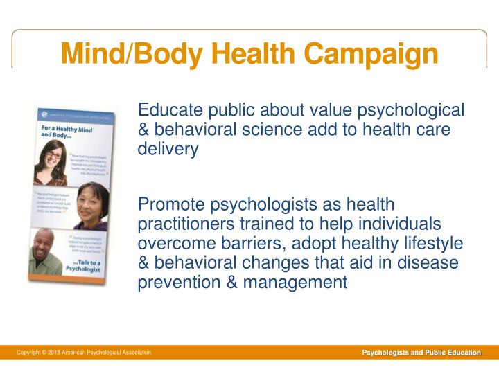 Mind body health campaign