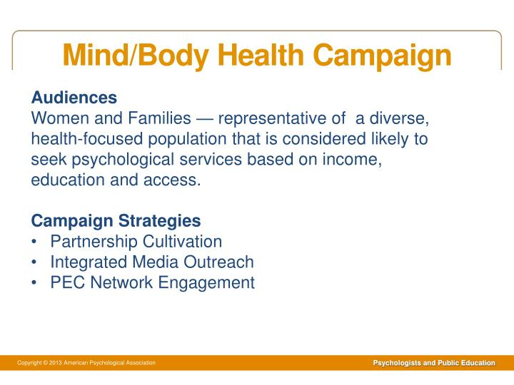 Mind/Body Health Campaign