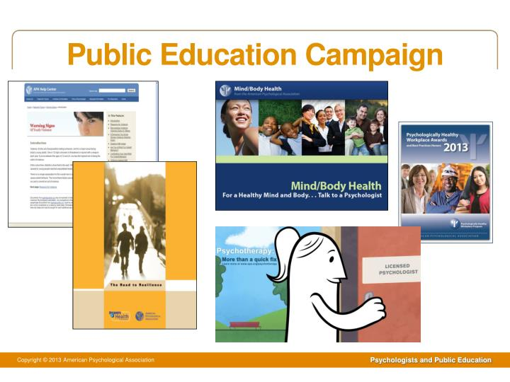 Public education campaign