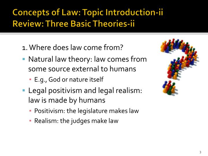 Concepts of law topic introduction ii review three basic theories ii