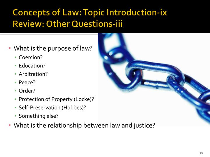 Concepts of Law: Topic Introduction-ix