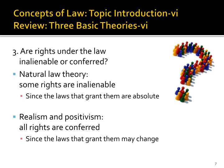Concepts of Law: Topic Introduction-vi