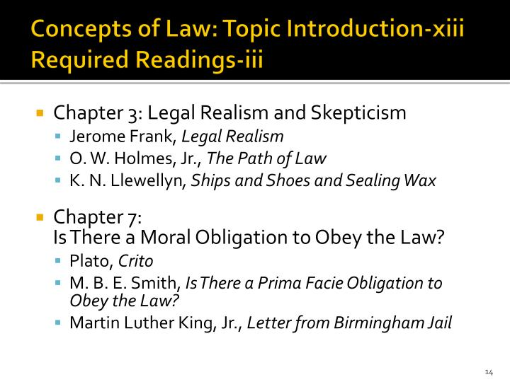 Concepts of Law: Topic Introduction-xiii