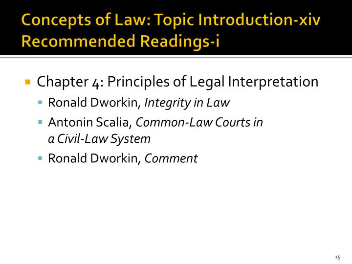 Concepts of Law: Topic Introduction-xiv