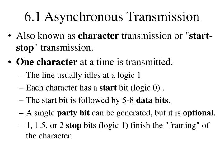 6.1 Asynchronous Transmission
