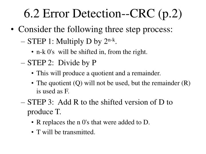 6.2 Error Detection--CRC (p.2)