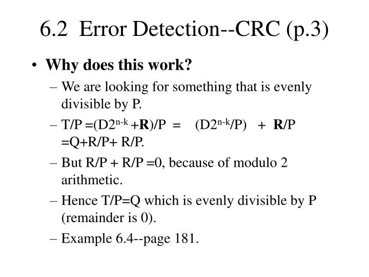6.2  Error Detection--CRC (p.3)