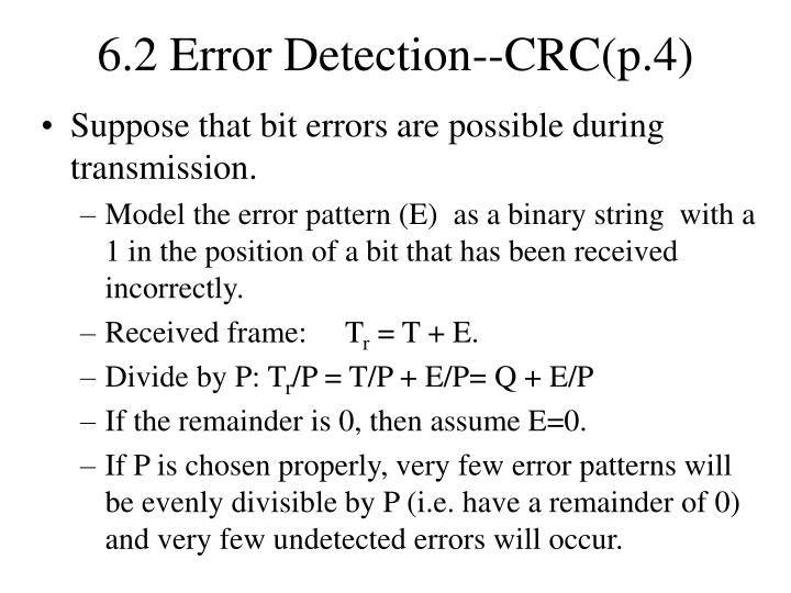 6.2 Error Detection--CRC(p.4)