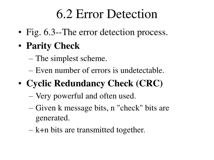 6.2 Error Detection