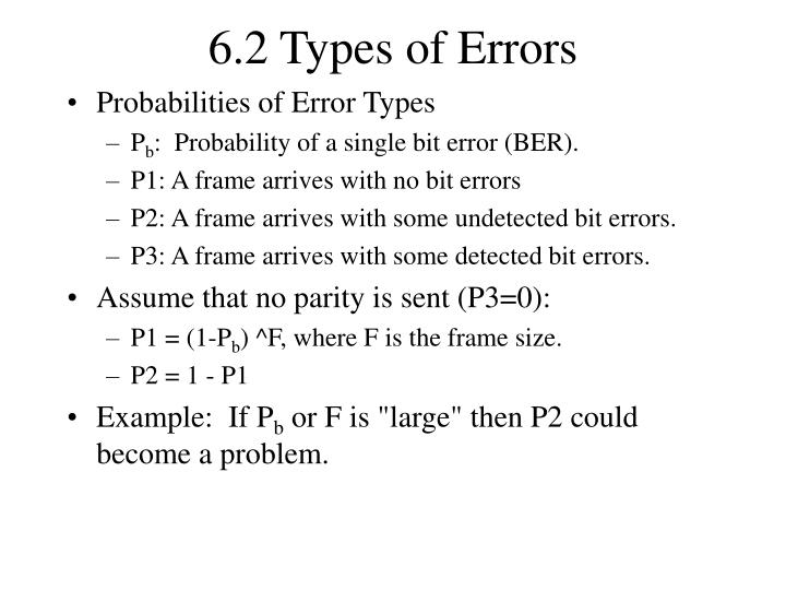 6.2 Types of Errors