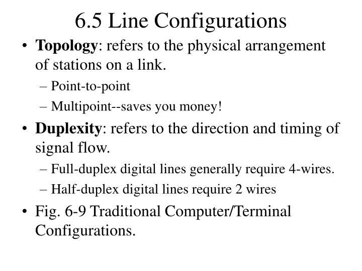 6.5 Line Configurations