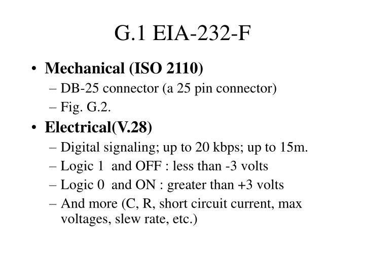 G.1 EIA-232-F
