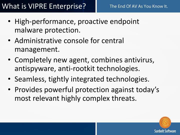 What is vipre enterprise