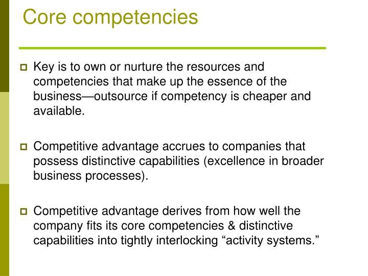 Core competencies