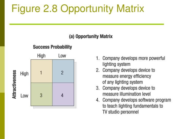 Figure 2.8 Opportunity Matrix