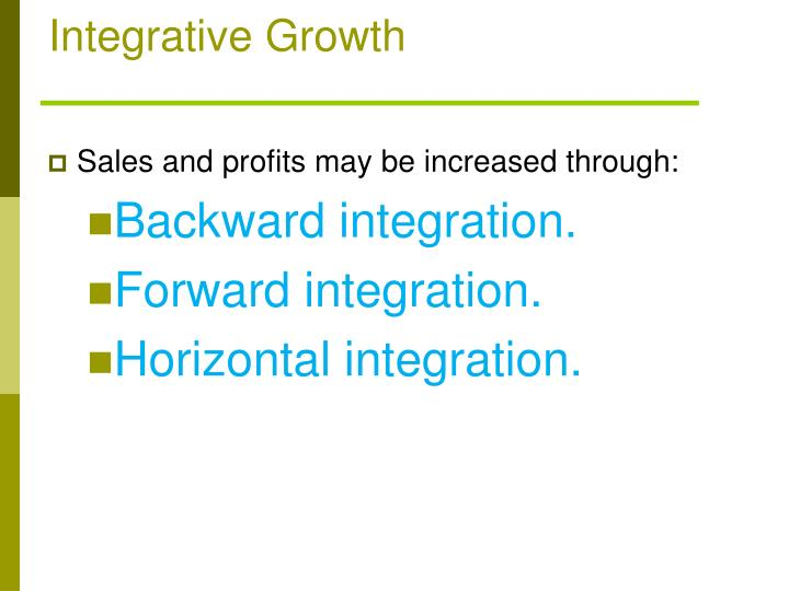 Integrative Growth