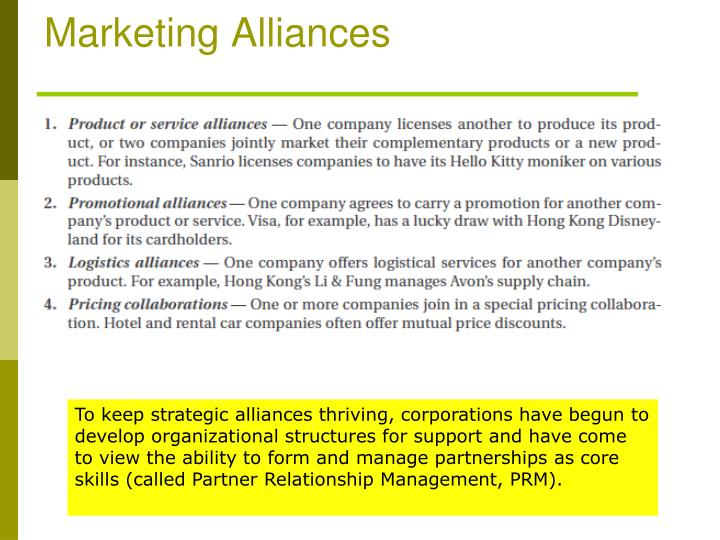 Marketing Alliances