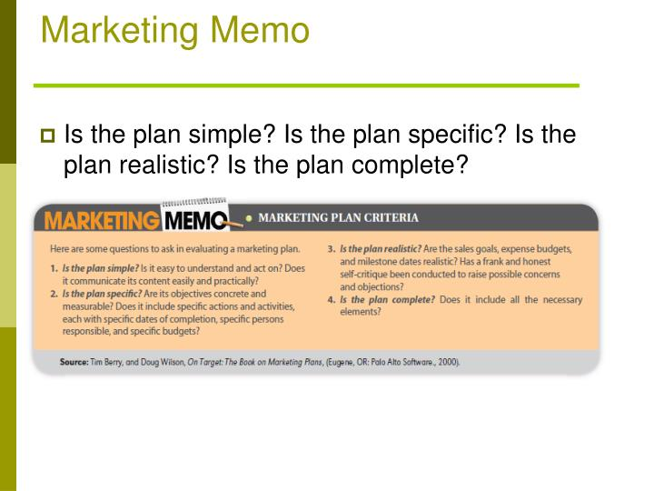 Marketing Memo