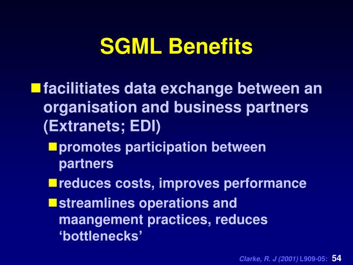 SGML Benefits