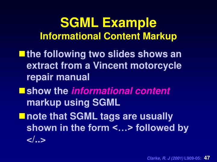 SGML Example